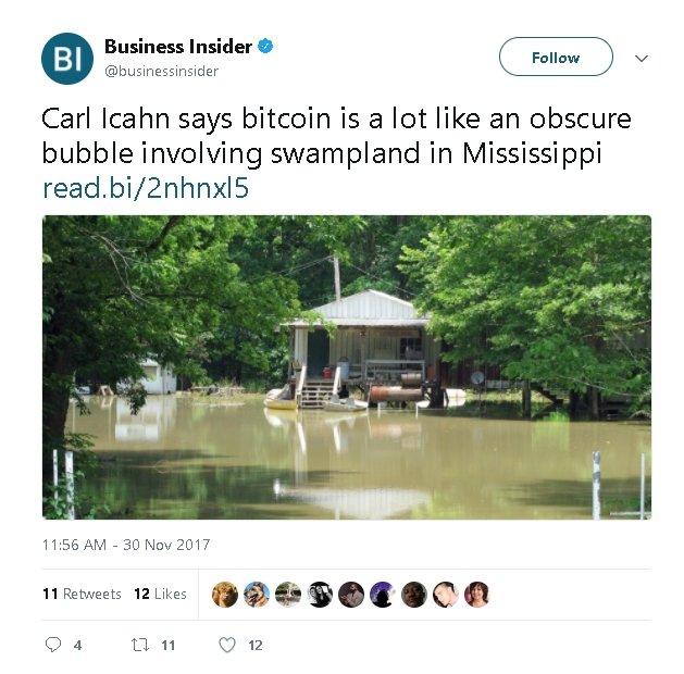 Bitcoin Bandwagon of Naysayers Grows: Carl Icahn Calls Bubble 15