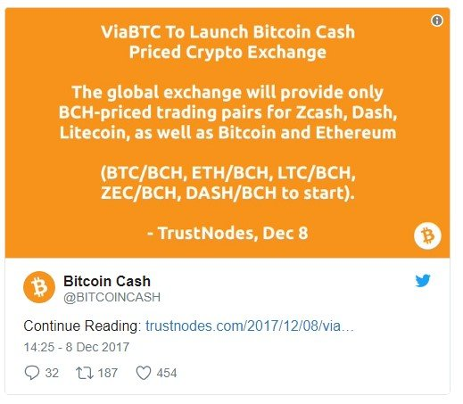bitcoin cash change