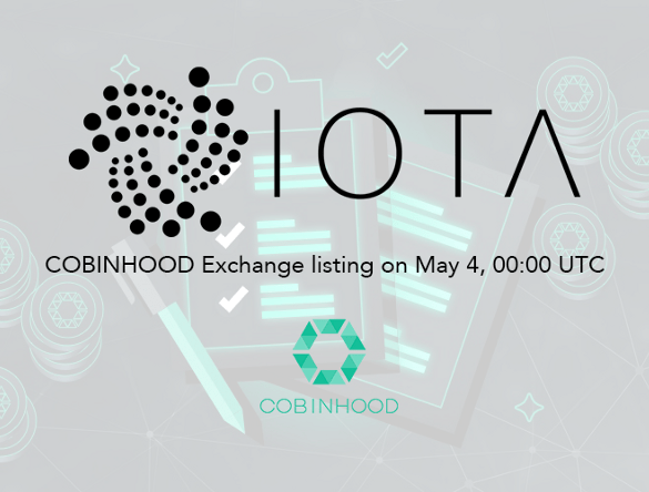 Cobinhood To List IOTA (MIOTA) On May 4 15