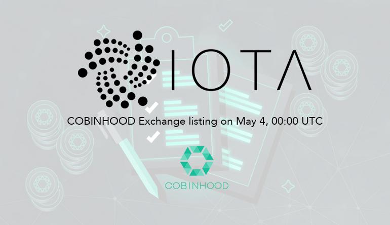 Cobinhood To List IOTA (MIOTA) On May 4 18