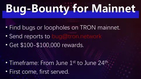 $100k Up For Grabs With Tron's (TRX) Bug Bounty Program 14