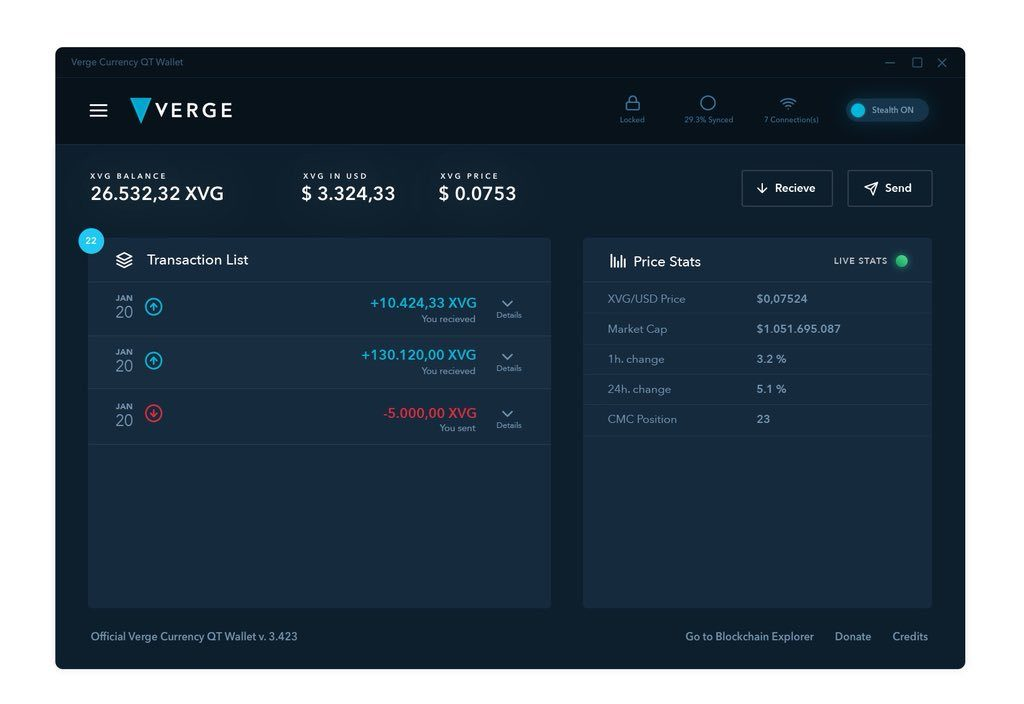 Ahead Of Possible Streamlab Partnership, Verge (XVG) Unveils Tempting New Wallet 19
