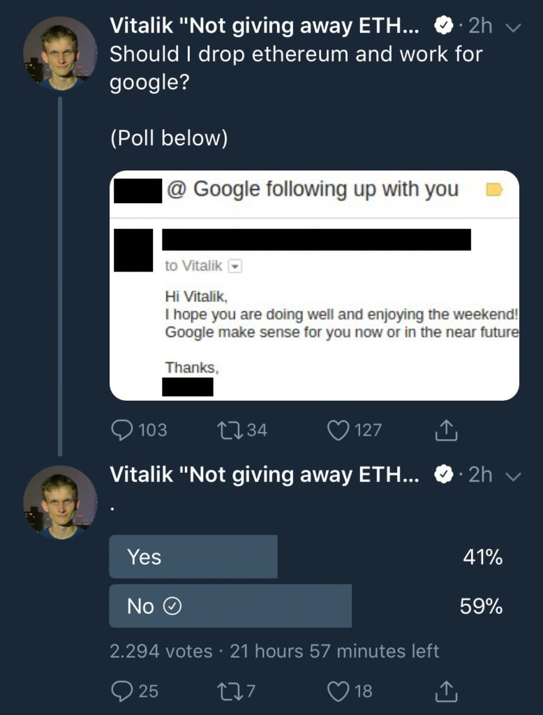 Google Could Have Offered Vitalik Buterin a Job 13