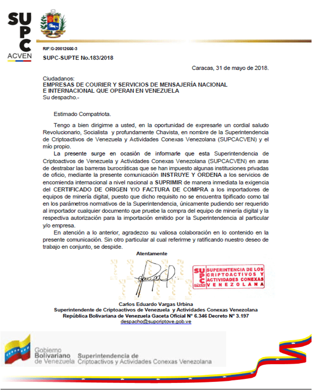 Venezuelan Government Facilitates Crypto-Mining 15
