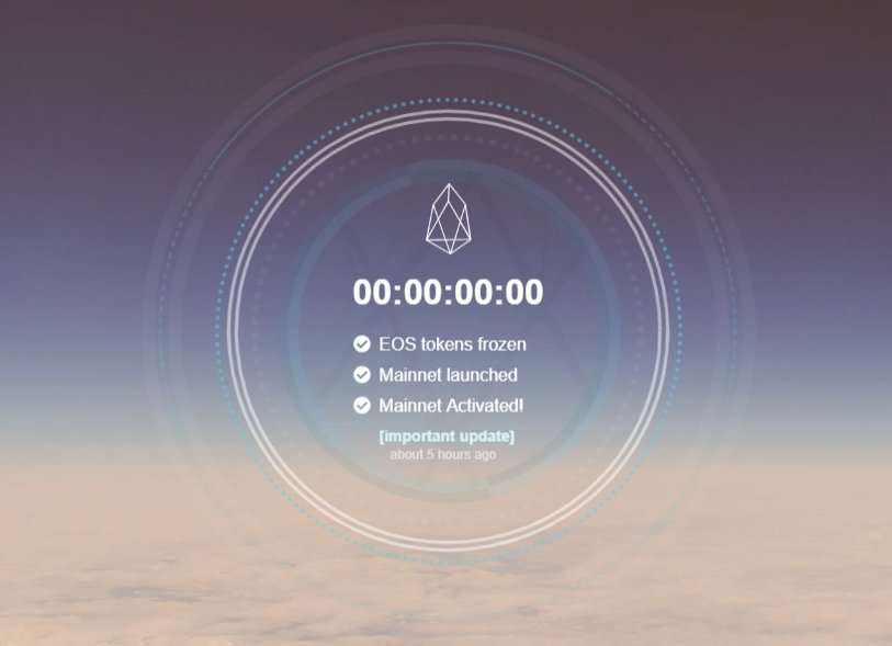 Blockchain Goes Live EOS