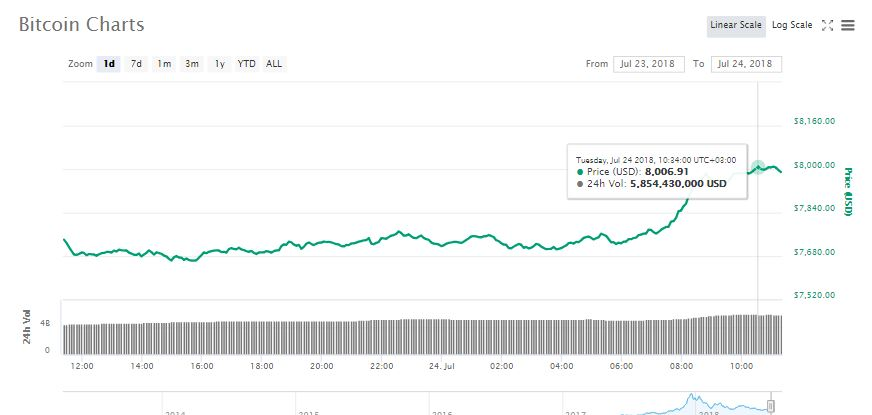 Bitcoin (BTC) Breaks $8,000 as Alt-coins Suffer 13