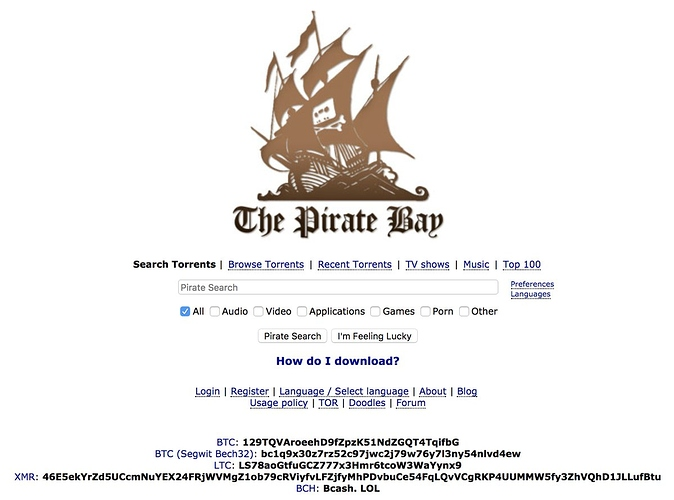 The Pirate Bay Mines Crypto With Your CPU in Exchange For a Cleaner Interface 14