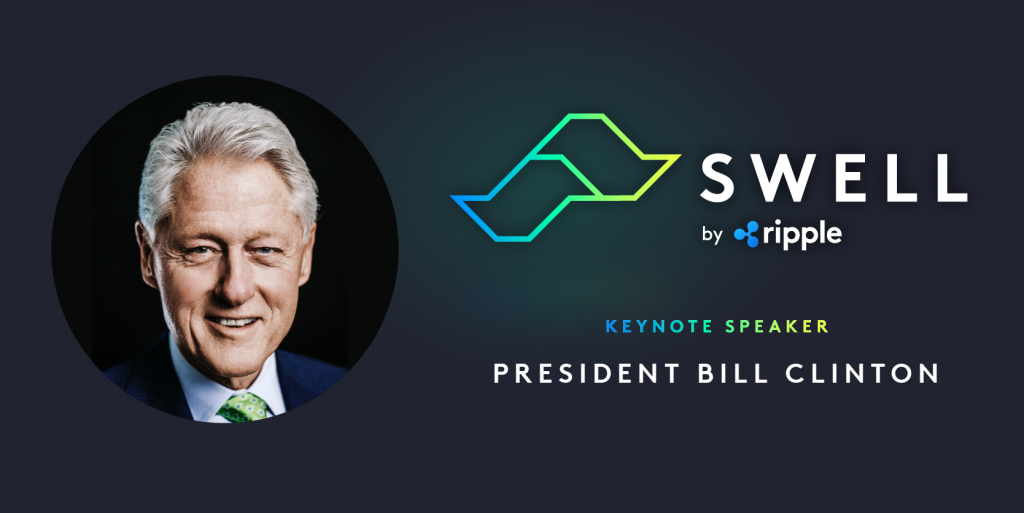 Bill Clinton to Deliver Address at Upcoming Ripple Swell Conference 13