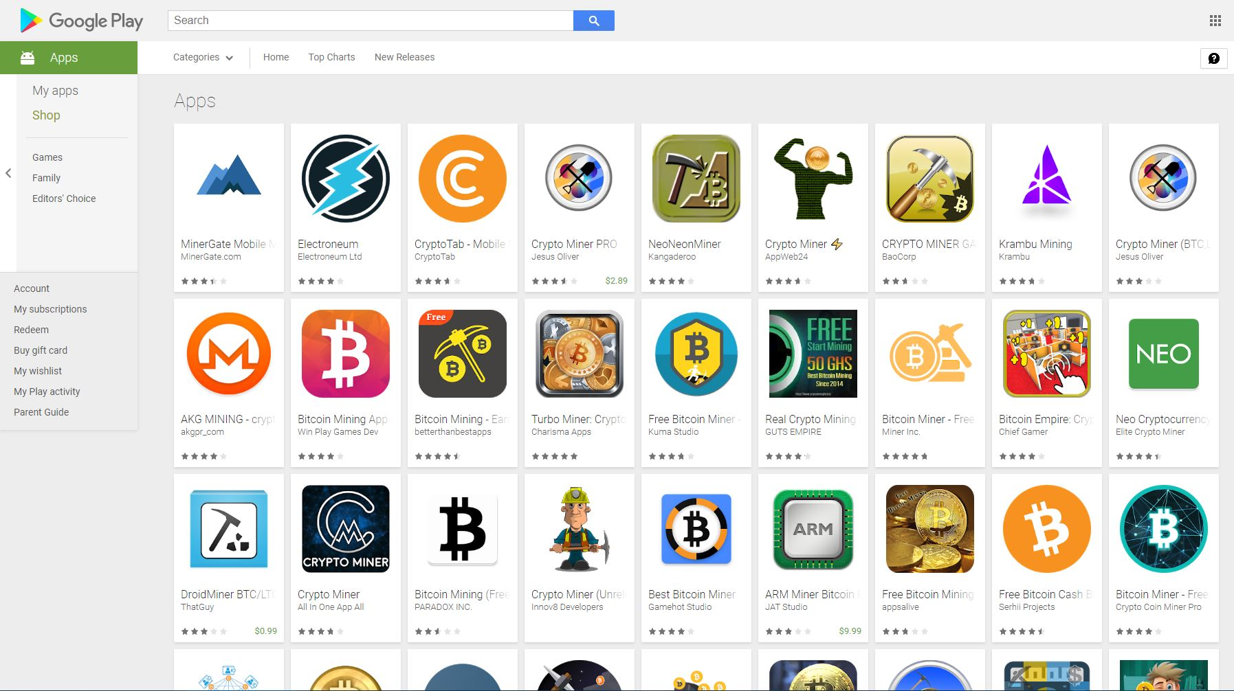 Google Play's Anti-Crypto Mining App Policy Hasn't Seemed To Work 14
