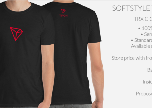 Tron (TRX) Enters Merchandising Phase With T-Shirts and More at Crypto and Proud 15