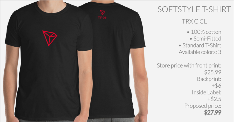 Tron (TRX) Enters Merchandising Phase With T-Shirts and More at Crypto and Proud 13