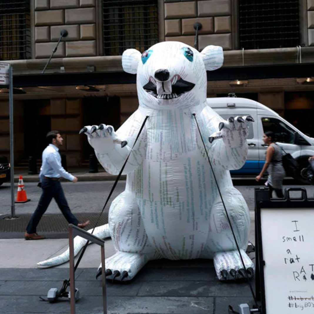 There's A Giant White Sewer Rat In Wall Street And It's Preaching Bitcoin 13