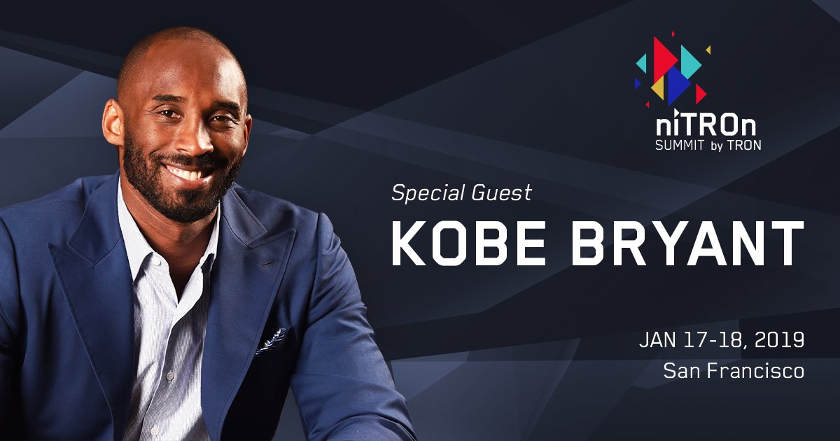 Kobe Bryant to Speak at Tron's (TRX) NiTRON Summit Scheduled for January 2019 13