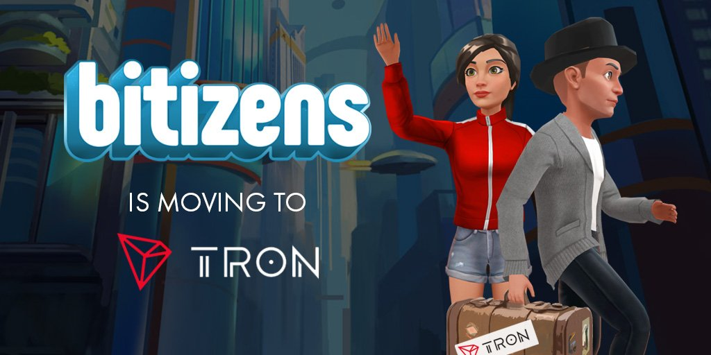 BitGuild Moves the Bitizens Gaming DApp From Ethereum (ETH) to Tron (TRX)