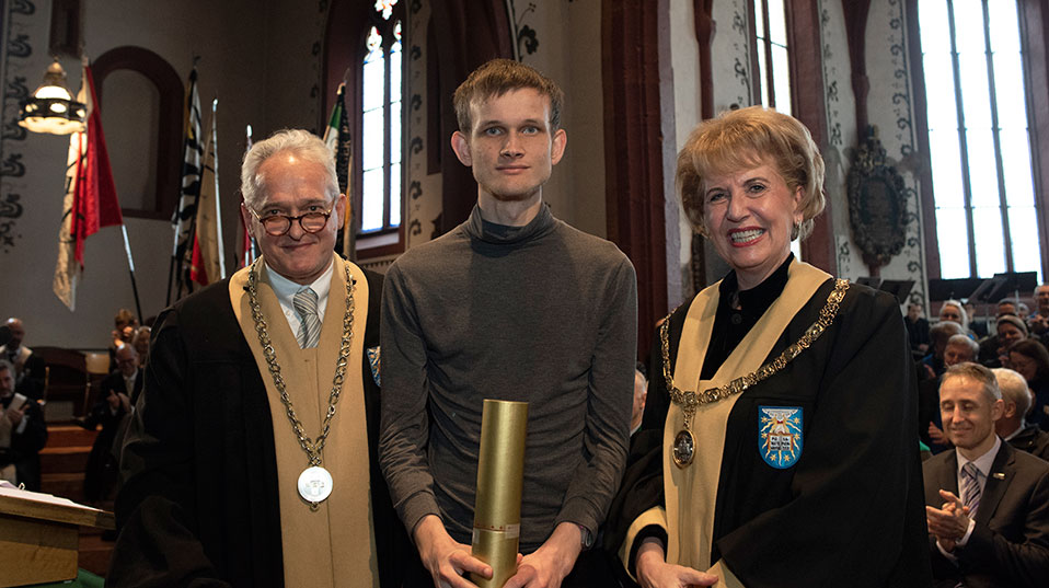 Ethereum (ETH) Co-Founder Vitalik Buterin, Awarded Honorary Doctorate by the University of Basel 1