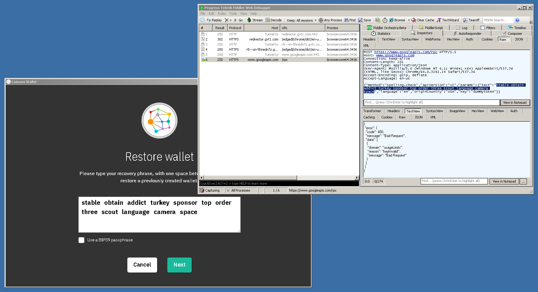 Coinomi Used to Send Your Wallet Passphrase to Google for