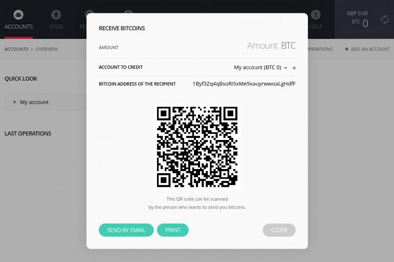 Bitcoin BTC Address