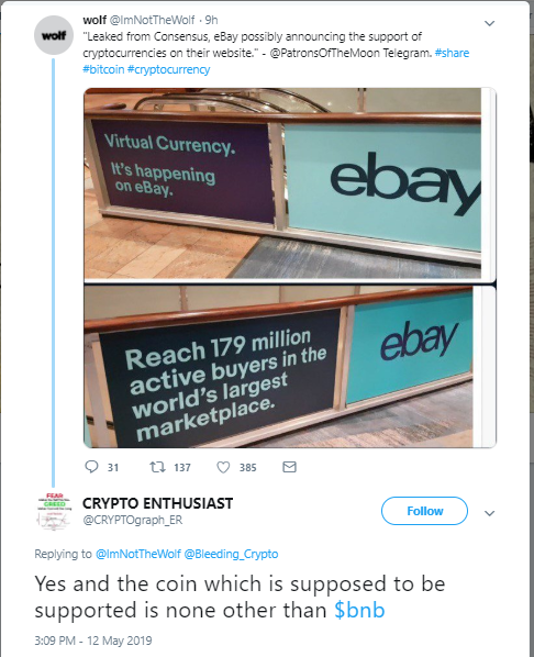 eBay to Start Accepting Crypto? Community Stirred by Twitter Rumours 14