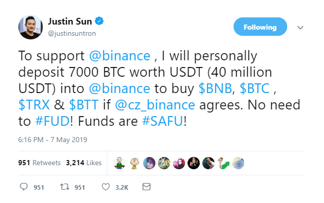 Tron Offers Help to Binance, Partners with Cred to Provide Crypto Loans to TRX Holders 2