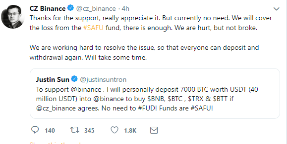 Tron Offers Help to Binance, Partners with Cred to Provide Crypto Loans to TRX Holders 3