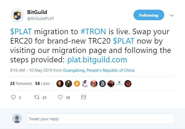 DLT Gaming Company BitGuild Ditches Ethereum, Chooses Tron Network 14